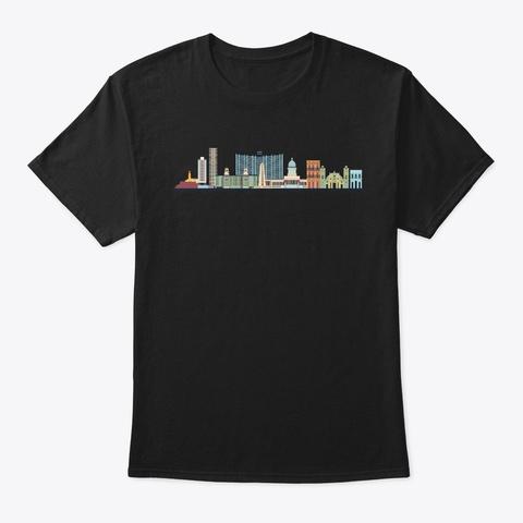 Cuba Skyline Havana Cool Souvenir Gifts Black T-Shirt Front