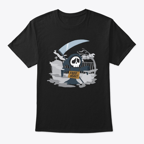 Free Hugs Black T-Shirt Front