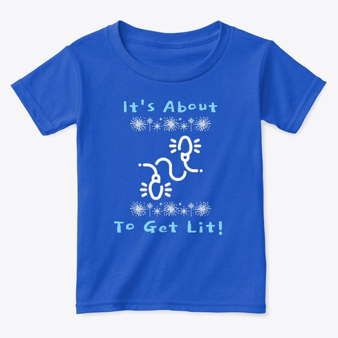 It's About To Get Lit, X Mas Lights Royal  T-Shirt Front