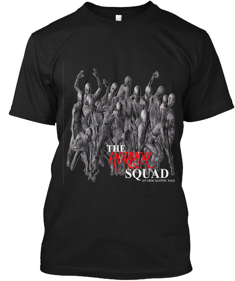The Horror Squad Black T-Shirt Front