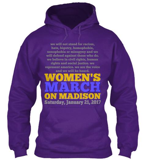 Women's March On Madison Purple Sweatshirt Front