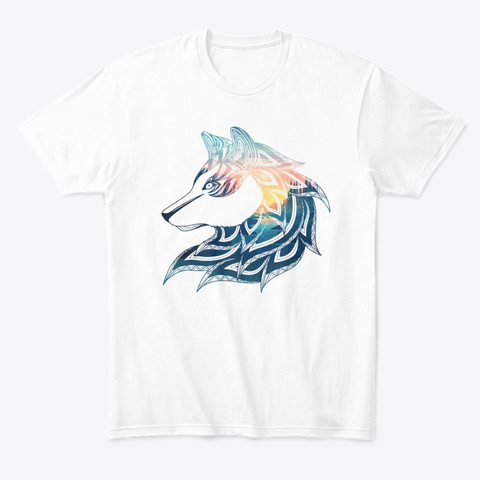 Mimi The Wolf White T-Shirt Front