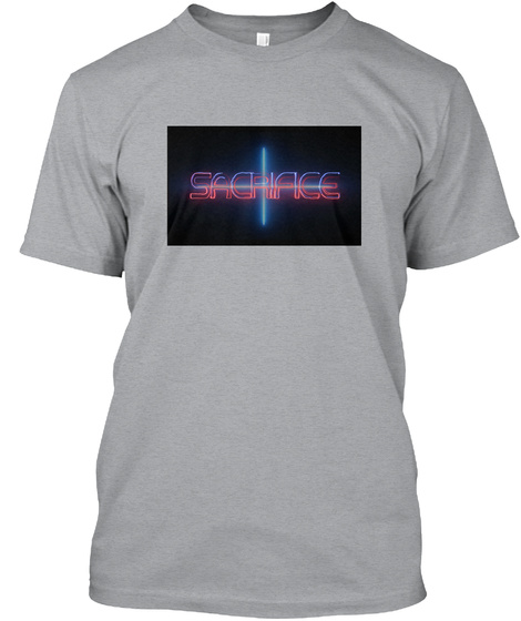 Sacrifice Heather Grey T-Shirt Front