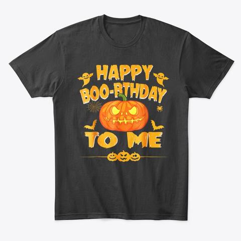 Halloween Birthday Shirt Pumpkin Tee Black T-Shirt Front
