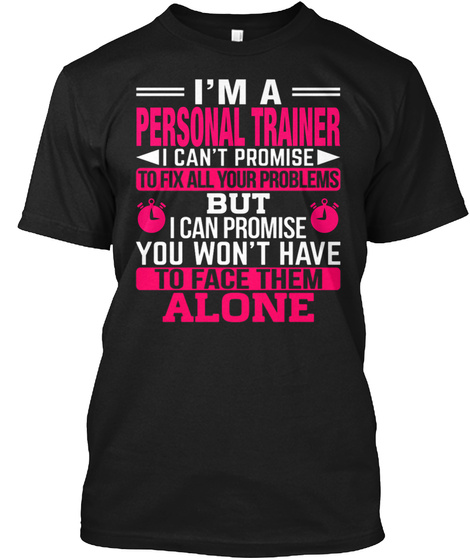 Personal Trainer Black T-Shirt Front