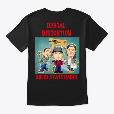 Digital Distortion Podcast Black T-Shirt Back