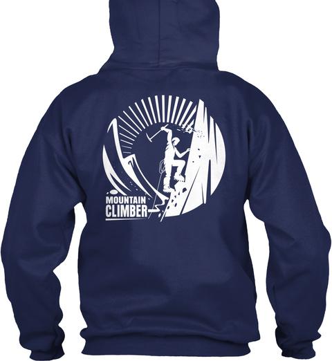 Mountain Climber Navy T-Shirt Back