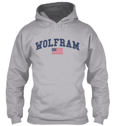 Wolfram Family Flag Sport Grey T-Shirt Front