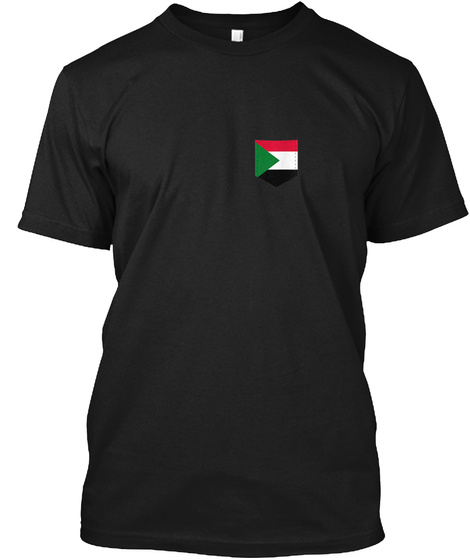 South Sudan Flag Art With Printed South  Black T-Shirt Front