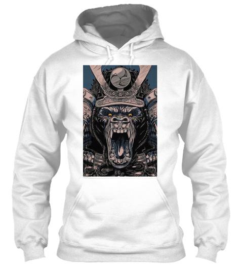 Gorilla Samurai Hoodie White Sweatshirt Front