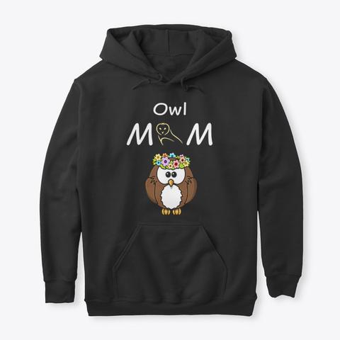 Owl Shirts Black T-Shirt Front