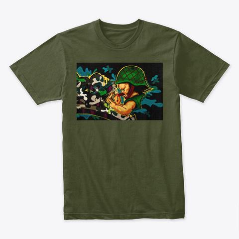Graffiti 2050 Military Green T-Shirt Front