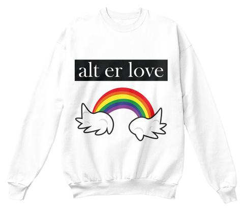 Alt Er Love White Camiseta Front