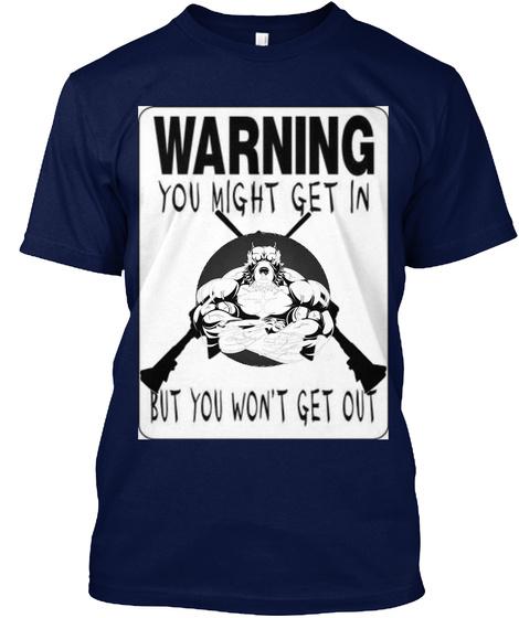 Total Bully   Big A## Bully Yard Tshirt Navy T-Shirt Front