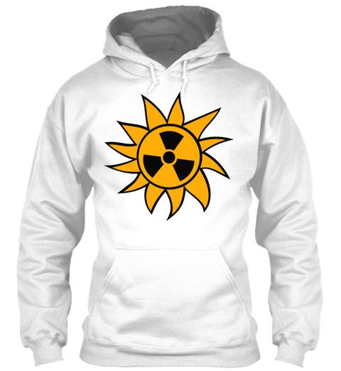 Radioactive Atomic Bomb Radiation Rays U White T-Shirt Front