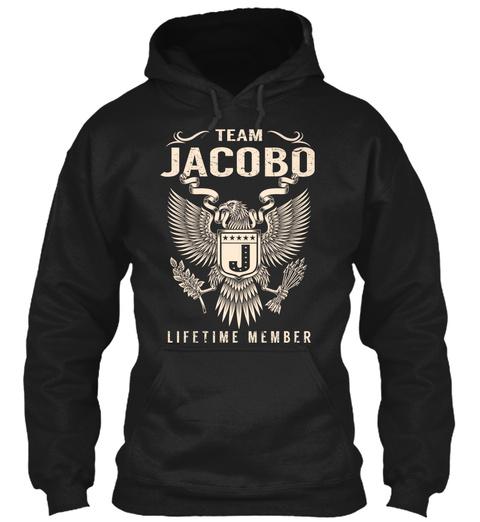 Team Jacobo J Lifetime Member Black T-Shirt Front