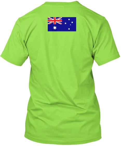 Australia  Jersey Lime T-Shirt Back
