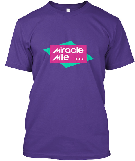 Miracle Mile (Tees + Colors) Purple T-Shirt Front