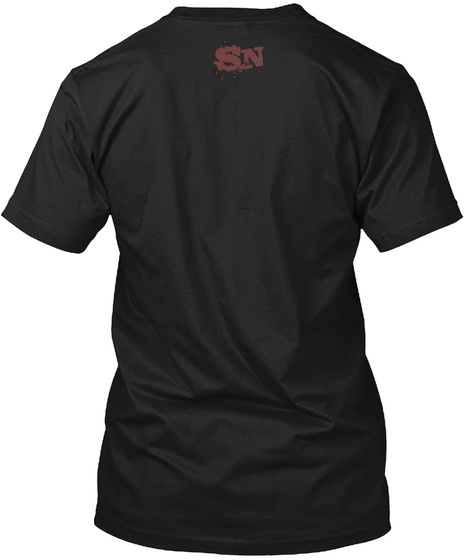 Sn Black T-Shirt Back
