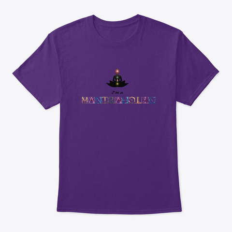 Soy Adicto/A Al Mantra Purple T-Shirt Front