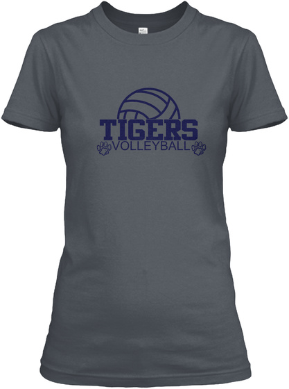 Scobee Tigers Volleyball Heavy Metal T-Shirt Front
