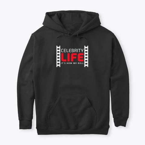 Celeb Life Black T-Shirt Front