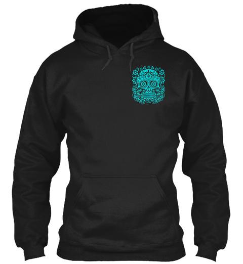 Heavy Blend Hoodie. Black Sweatshirt Front