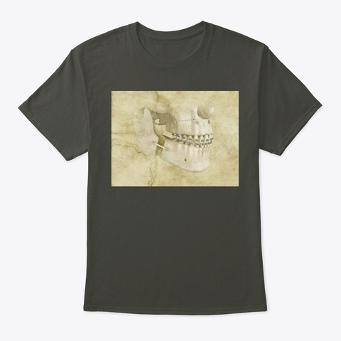 Dentistry Lovers Teeth Art 4 Smoke Gray T-Shirt Front