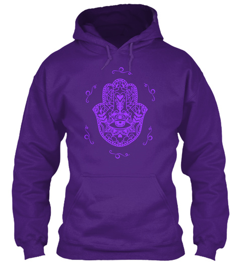 Hamsa Yoga Purple Purple T-Shirt Front