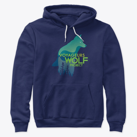 Voyageurs Wolf Project Navy T-Shirt Front