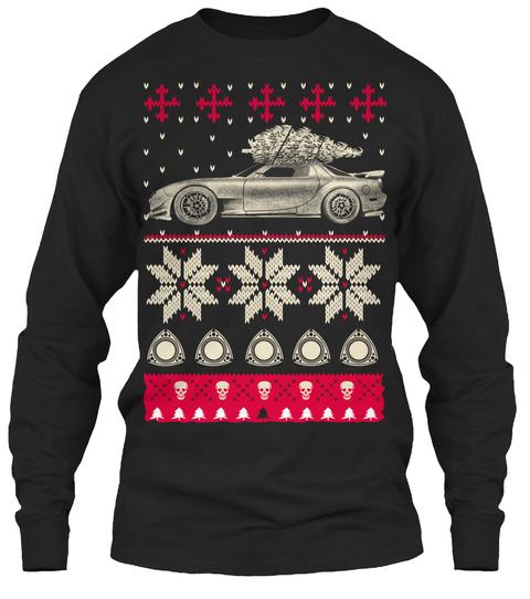 Mazda Ugly Christmas  Black Long Sleeve T-Shirt Front