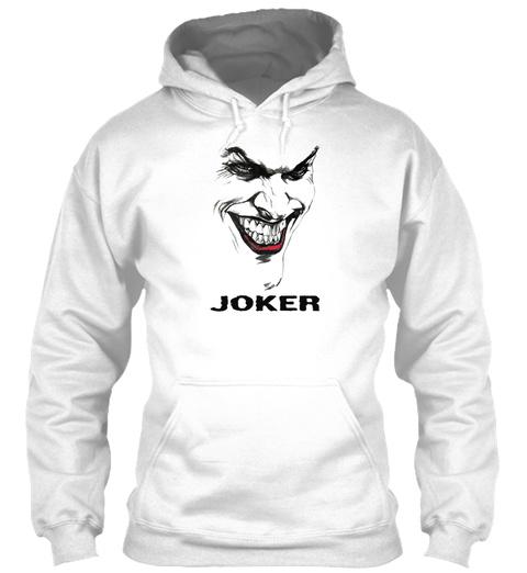 Joker White Sweatshirt Front