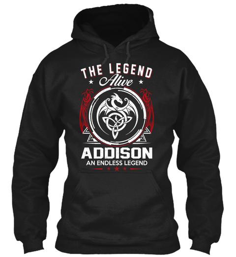 Addison   Alive And Endless Legend Black T-Shirt Front