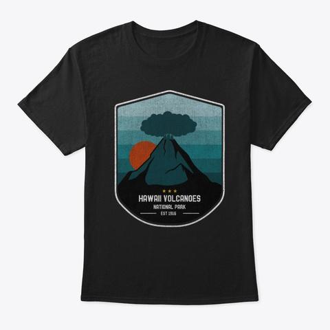Vintage Hawaii Volcanoes National Park Black T-Shirt Front