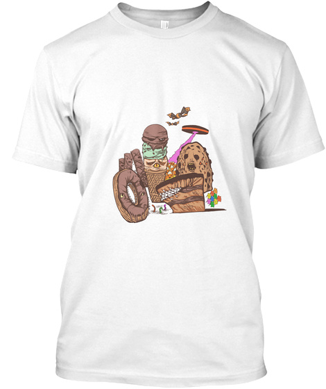 Deadly Desserts White Camiseta Front
