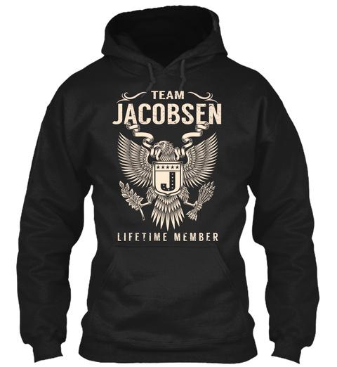 Team Jacobsen Lifetime Member Black T-Shirt Front