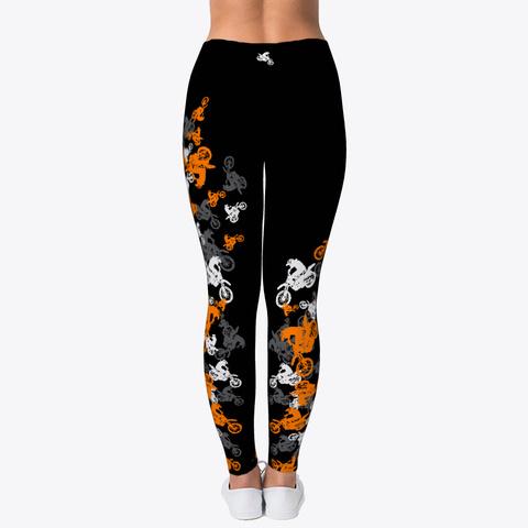 Mx Leggings Orange Scatter Black Camiseta Back