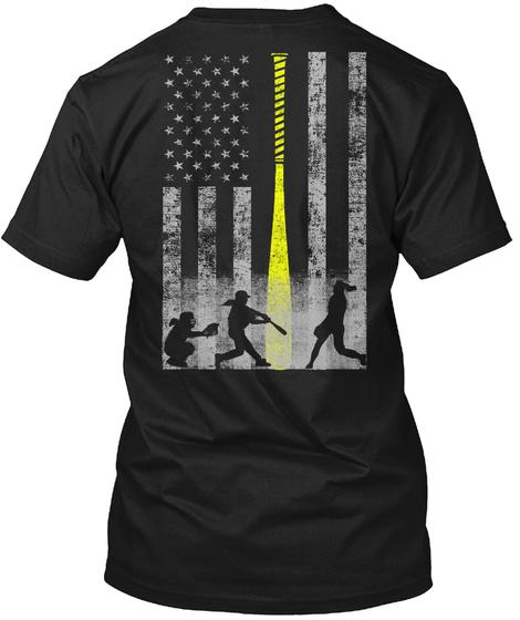 Limited Edition Softball Flag T-Shirt Back