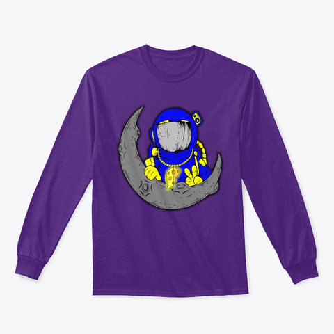 Space Cheddar The Long Sleeve Shirt Purple T-Shirt Front