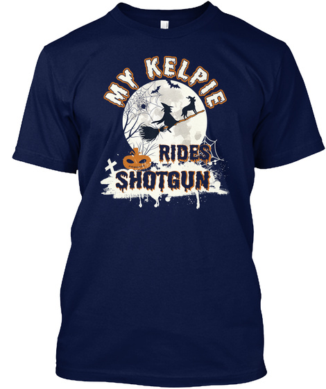 Kelpie Navy T-Shirt Front