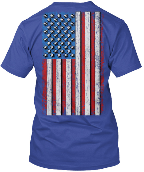 Dad: Real American Hero Deep Royal T-Shirt Back