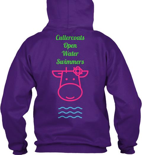 Cullercoals Open Water Swimmers Purple T-Shirt Back