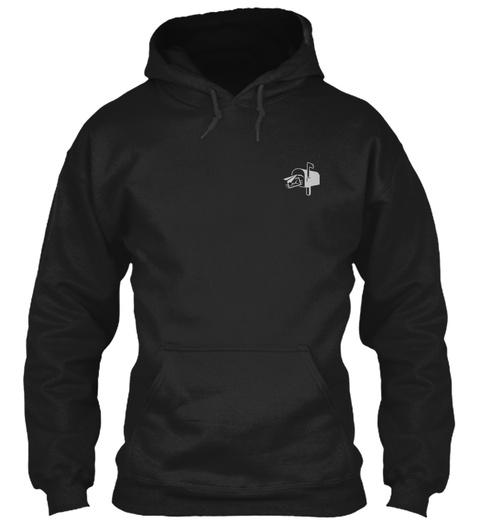 Proud Postal Worker Hoodie Black T-Shirt Front