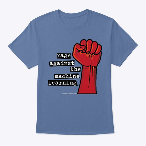 Rage Against The Machine Learning Denim Blue T-Shirt Front