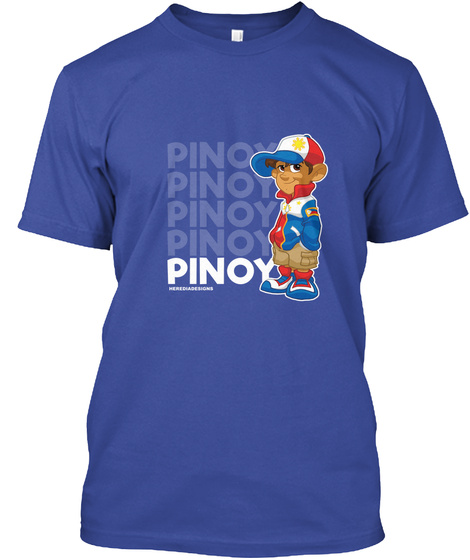 Pinoy Racer Deep Royal T-Shirt Front