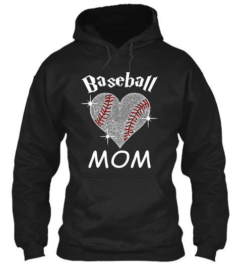 Baseball Mom Black T-Shirt Front