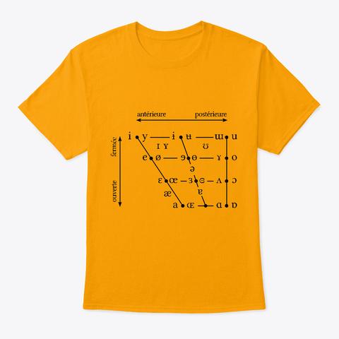 Le Triangle Vocalique Gold T-Shirt Front
