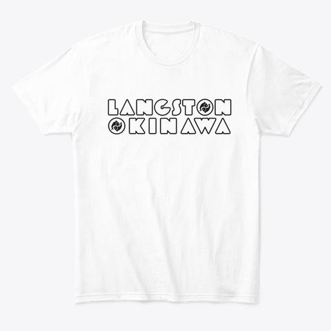 Langston Okinawa (Black Logo) White T-Shirt Front