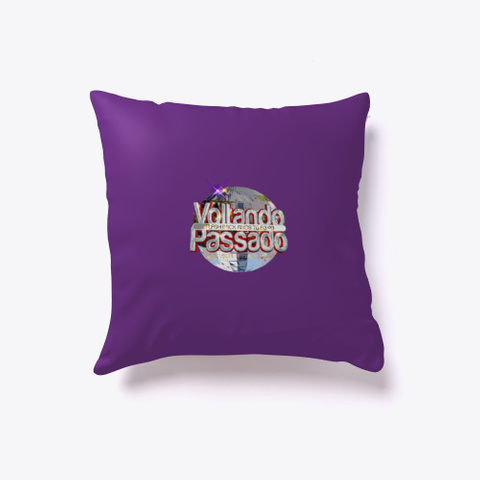 Retro Disco Pads Styles Purple T-Shirt Back