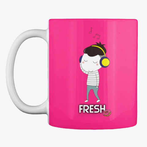 Taza Mug Desayuno  Fresh Color Hot Pink Kaos Front